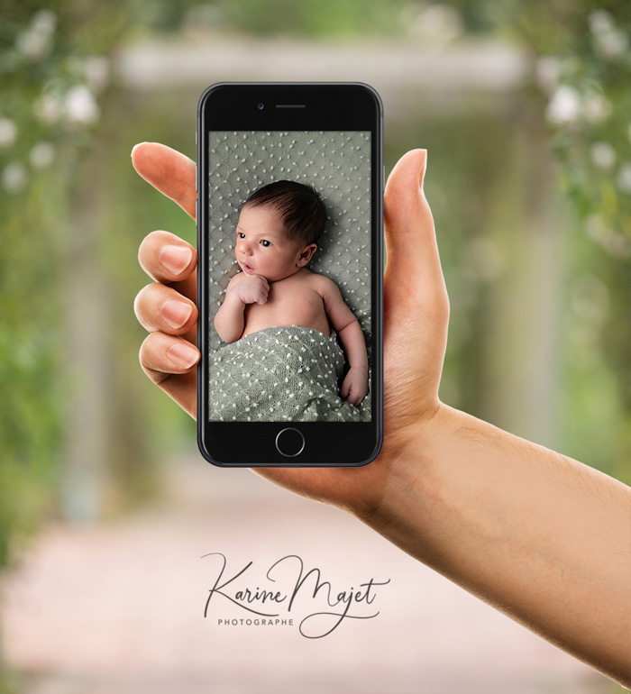 how to get a digital birth announcement with karine majet photographer paris