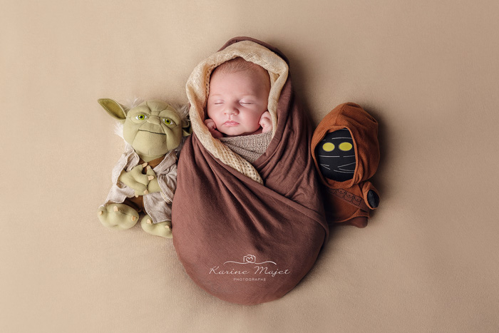 séance photo bébé Maurepas idée photo naissance star wars jedi