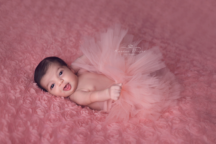 photo bebe fille tutu rose karine majet studio paris