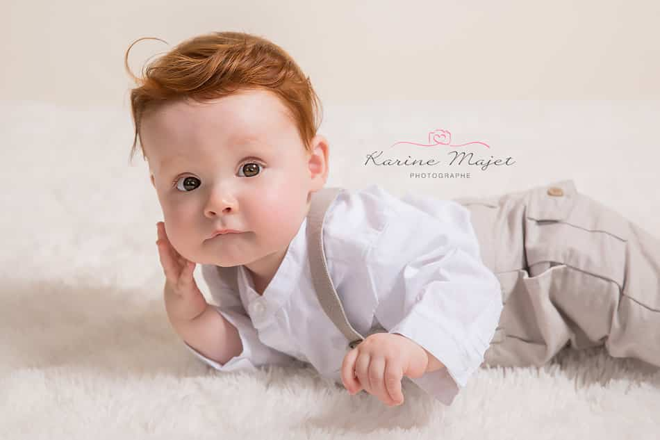 8 month baby photo shoot lovely baby boy portrait with red hair