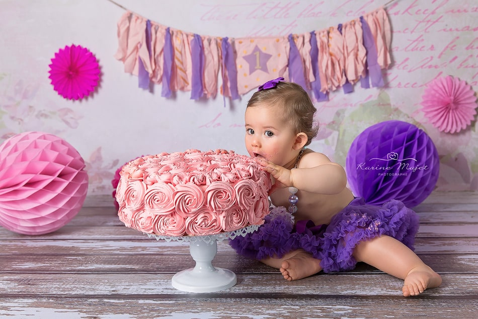 smash cake photo session tasty cake Karine Majet photographe