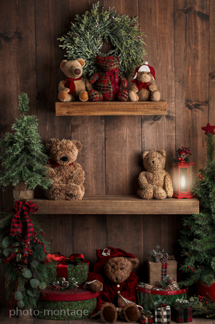noel etagere ours sapin